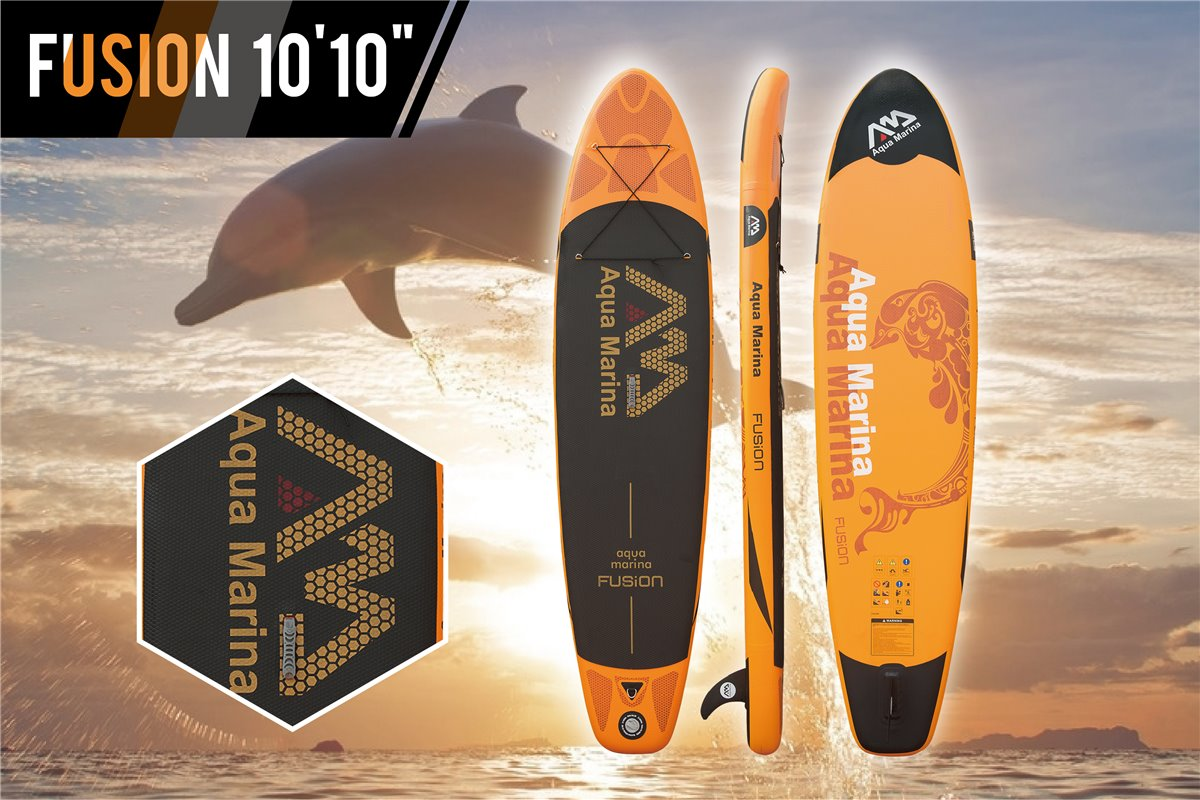 aqua marina fusion sup inflatable stand up paddle surfboard board model 2016 c ebay. Black Bedroom Furniture Sets. Home Design Ideas