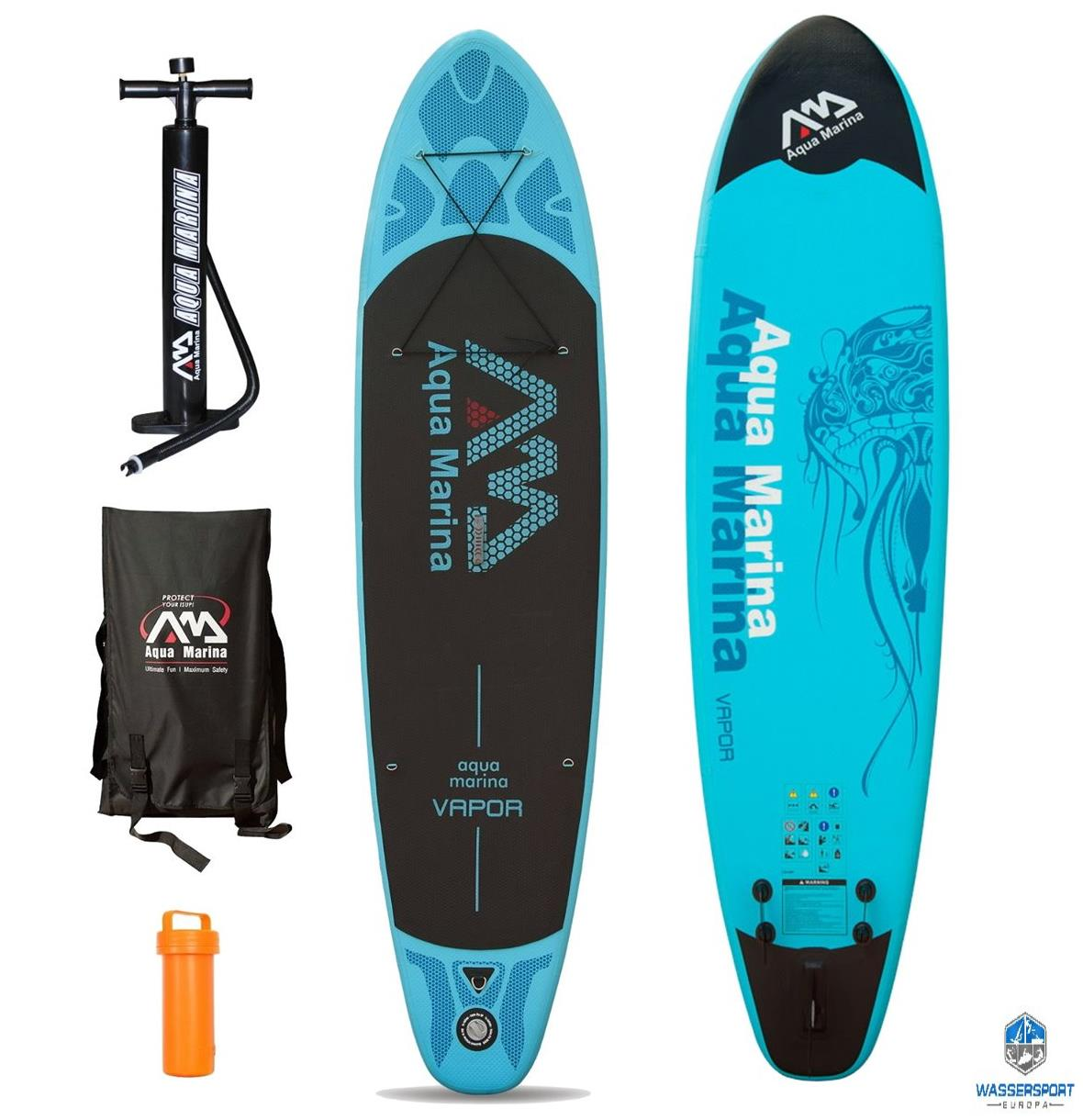 aqua marina vapor sup inflatable stand up paddle surfboard modell 2016 board ebay. Black Bedroom Furniture Sets. Home Design Ideas