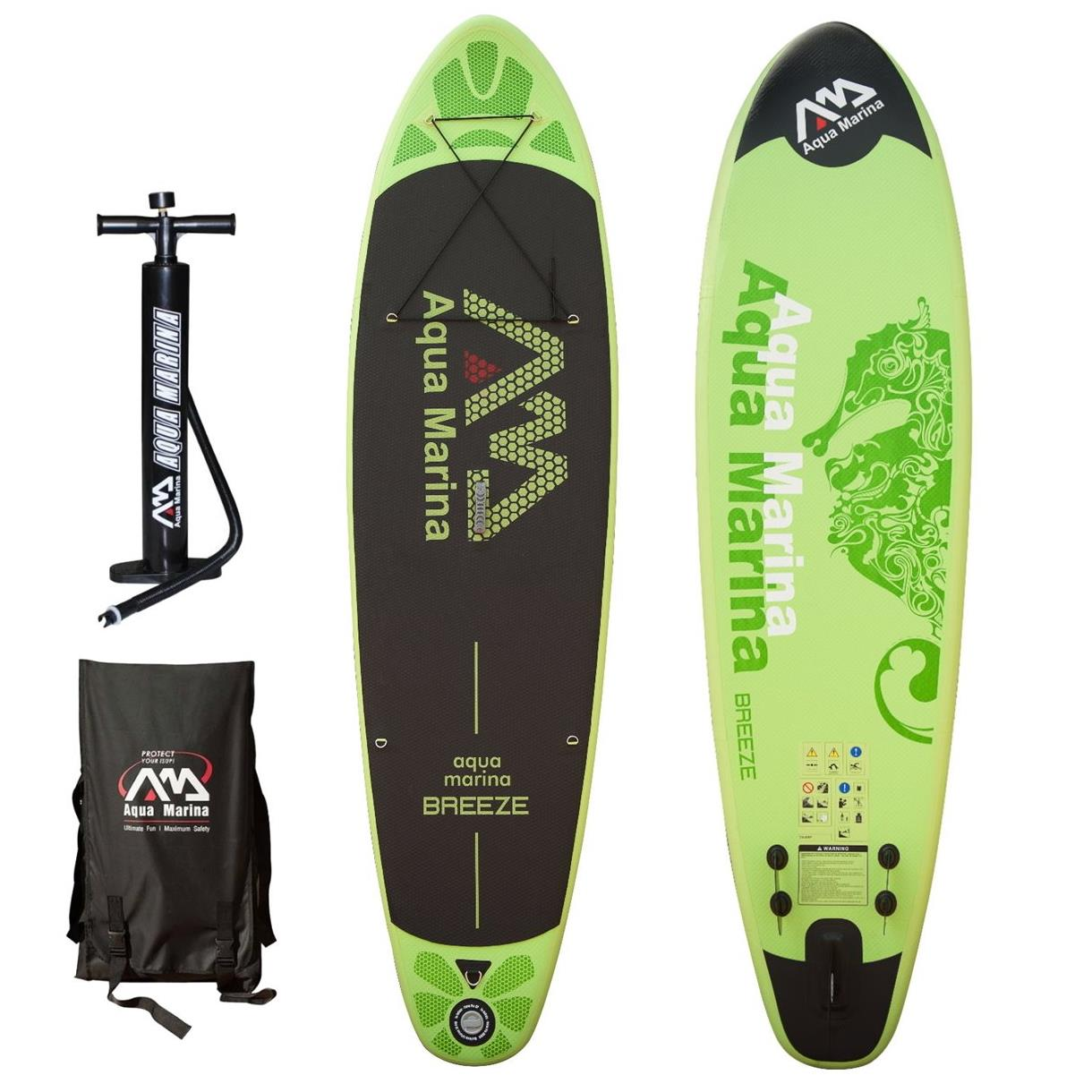 aqua marina breeze 2017 stand up paddle board inflatable paddel pumpe sup isup ebay. Black Bedroom Furniture Sets. Home Design Ideas