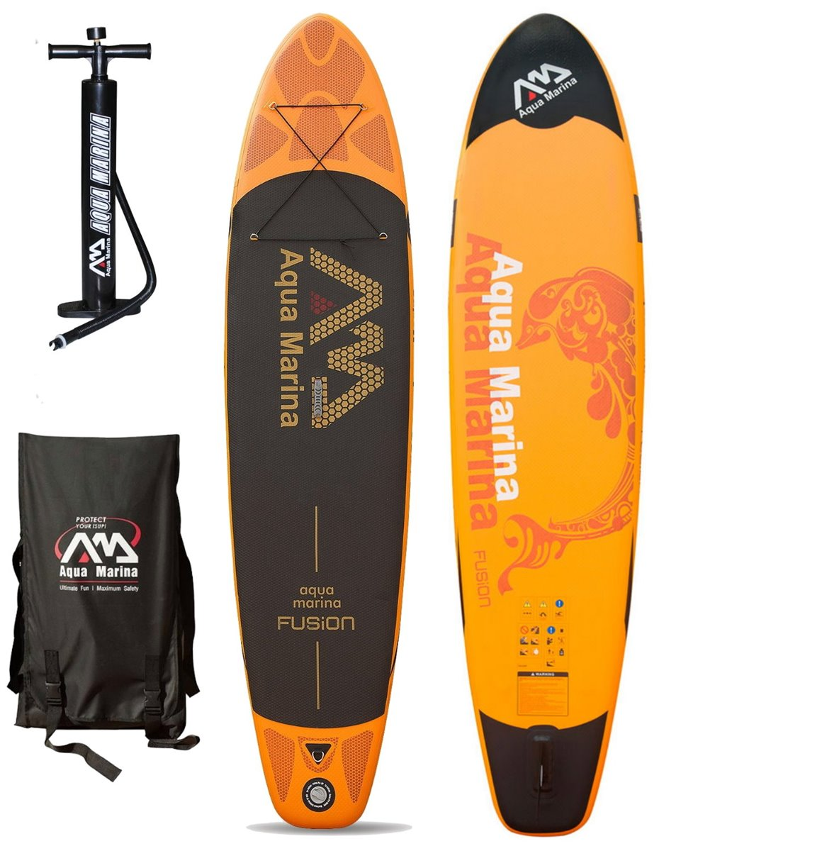 aqua marina spk fusion sup inflatable stand up paddle surfboard ebay. Black Bedroom Furniture Sets. Home Design Ideas