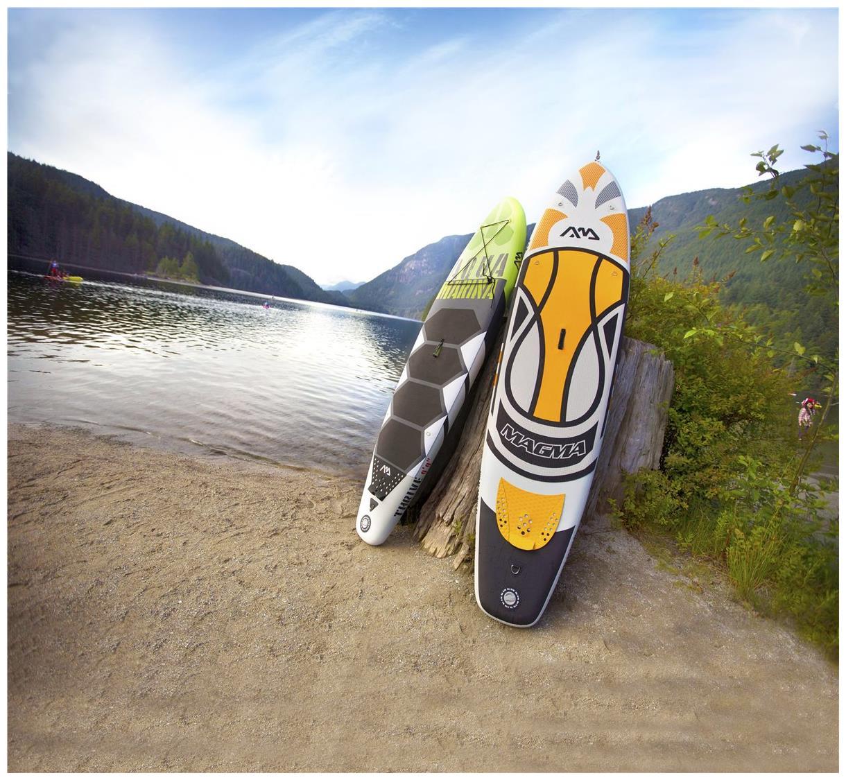 aqua marina magma stand up paddle board sup inflatable isup carbon paddle ebay. Black Bedroom Furniture Sets. Home Design Ideas